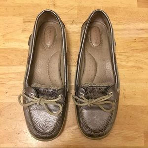 Silver Sperry Top-Siders